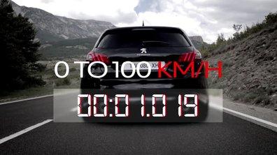 La Peugeot 308 GTi sur le 0-100 km/h !