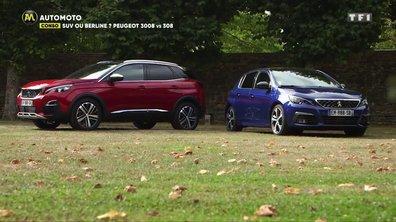 SUV ou Berline : Peugeot 3008 vs 308