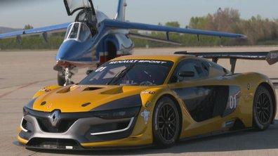 Teaser : Renault R.S. 01 face à l'avion Alpha Jet dans Automoto