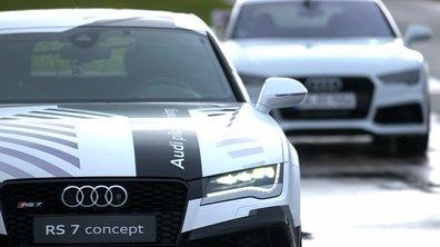 Teaser : Automoto défie l'Audi RS 7 autonome sur circuit !