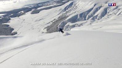Auvergne : des montagnes de neige sur le massif du Sancy