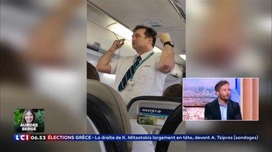 Avion : le steward le plus drôle