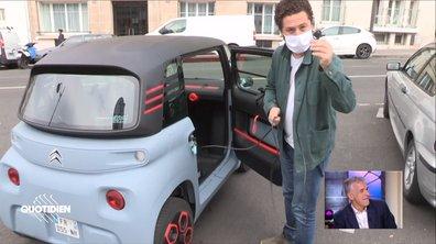 Azzeddine teste l'AMI, la voiture électrique sans permis de Citroën