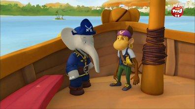 Le roi Badou contre les pirates - II - Babar, les aventures de Badou