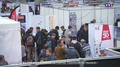 Baisse du chômage : le Cantal champion de France