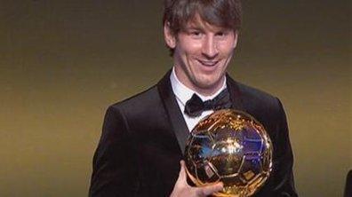 Messi, Ballon d'or 2010 historique !