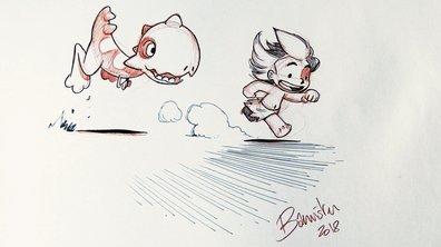 Bannister dessine Tib et Tatoum