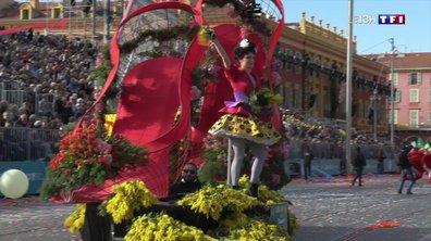 Bataille de fleurs au carnaval de Nice, un événement haut en couleur