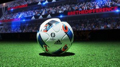 Zinédine Zidane présente le ballon de l'Euro 2016