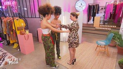 Julie devient Femme Fatale en léopard grâce aux Guess Twins !
