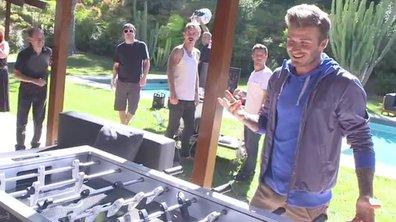 Insolite : Beckham reconverti au babyfoot ! (vidéo)