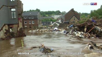 Belgique : des milliers d'habitants piégés par les eaux