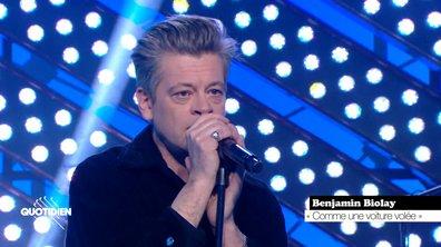 """Benjamin Biolay: """"Comme une voiture volée"""" en live pour Quotidien (Exclu)"""
