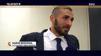"""[Exclu Téléfoot 16/04] - Benzema : """"Hazard pourrait être une bonne recrue pour le Real"""""""