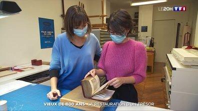Bibliothèque nationale de France : restauration d'un manuscrit vieux de 600 ans