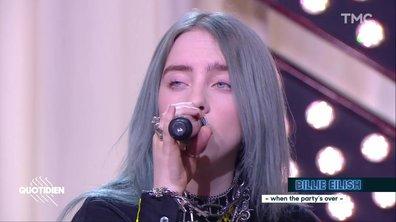 """Billie Eilish : """"When the party's over"""" en live pour Quotidien"""