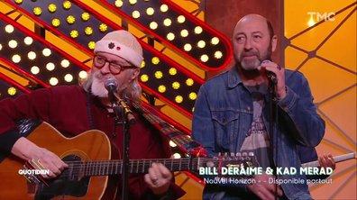 """Bill Deraime et Kad Merad: """"Sur le bord de la route"""" en live pour Quotidien"""