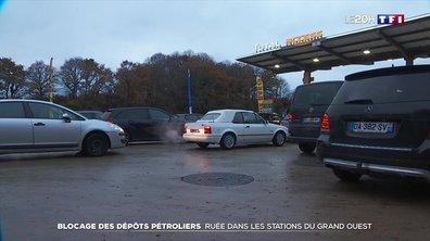 Blocage des dépôts pétroliers : les stations du Grand Ouest prises d'assaut