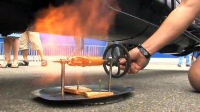 Insolite : cuire une saucisse avec son pot d'échappement !