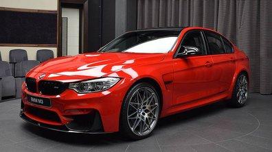 Une BMW M3 personnalisée avec une couleur… rouge Ferrari !