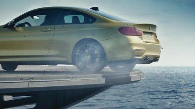 Insolite : une BMW M4 en drift sur un porte-avion !
