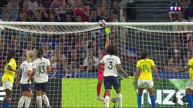 France - Brésil (1 - 0) : Voir la tête de Cristiane sur la transversale en vidéo