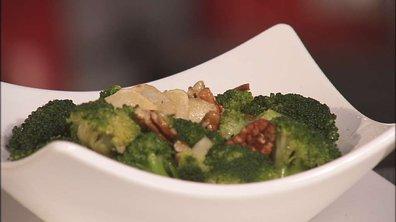 18/01 - Salade de brocolis et noix de pécan, sauce aigre douce