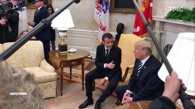 Bureau ovale et pellicule : le débrief de Macron à Washington