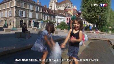 Canicule : 24 heures à Auxerre, l'une des villes les plus chaudes de l'Hexagone