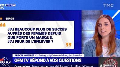 QFMTV : Alison Wheeler répond à toutes vos questions sur le bisou, la bise, le sex-appeal du masque, …