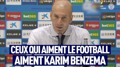 VIDEO – Zidane encense Karim Benzema