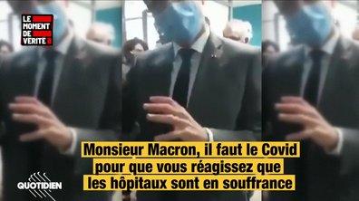 Le Moment de vérité : les coulisses de la visite très tendue d'Emmanuel Macron à la Pitié-Salpêtrière