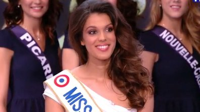 Iris Mittenaere s'élance sur le podium en maillot de bain pour Miss Univers