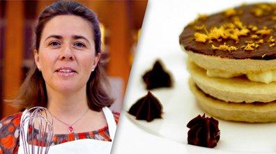 Mille-feuille sablé chocolat/orange par Carol