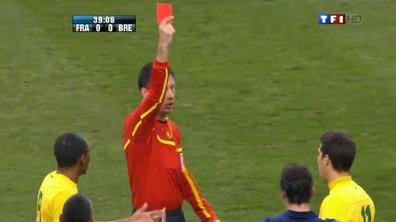 Vidéo du carton rouge pour Hernanes : France - Brésil (40ème)
