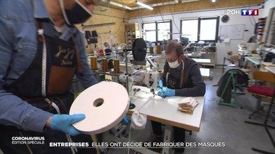 Ces entreprises qui se reconvertissent dans la fabrication de masques pour venir en aide aux soignants