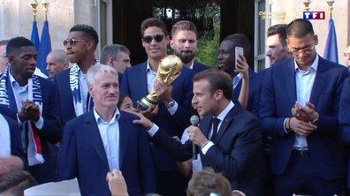 Emmanuel Macron remercie les Bleus à l'Elysée