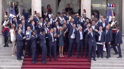 Equipe de France : Les Bleus arrivent à l'Elysée !