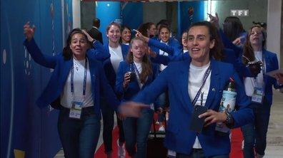 Les Argentines arrivent en chantant au Parc des Princes !