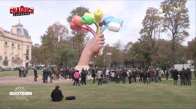 Chaouch Express : à l'inauguration du polémique bouquet de Jeff Koons