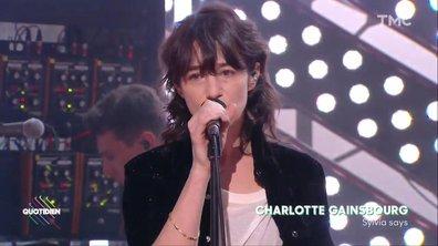 """Charlotte Gainsbourg : """"Sylvia Says"""" en live pour Quotidien"""