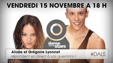 #ChatAvecLesStars : 18h30, Alizée et Grégoire en direct avec vous