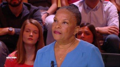"""Christiane Taubira: la déchéance de nationalité """"restera une tâche"""" pour François Hollande"""