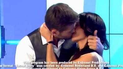 Christophe Beaugrand et Nathalie (SS8) : le baiser langoureux