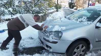 Chute de neige, la galère sur les routes