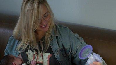 Cindy utilise un tire-lait dans l'épisode 31 de Mamans & célèbres