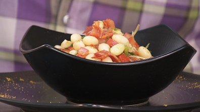 Salade de haricot coco au chorizo et sa vinaigrette marocaine