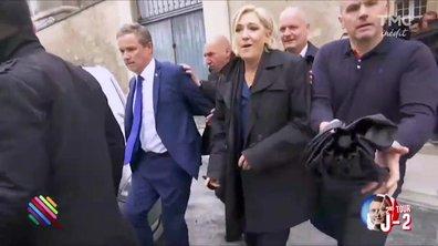 Cohue et mensonges, fin de campagne mouvementée pour Marine Le Pen