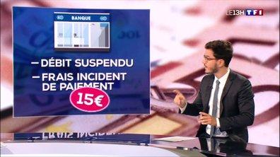 Frais d'incidents bancaires : les banques françaises pointées du doigt