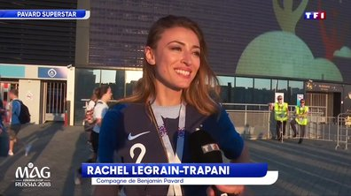 """L'ex-Miss France Rachel Legrain-Trapani a """"halluciné"""" devant le match de son chéri Benjamin Pavard"""